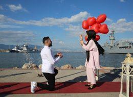 Uçan Balonlar ve Yer Volkanları Eşliğinde Sürpriz Organizasyon İzmir